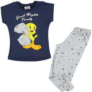 Tweety Kız Çocuk Pijama Takımı 2-5 Yaş Lacivert
