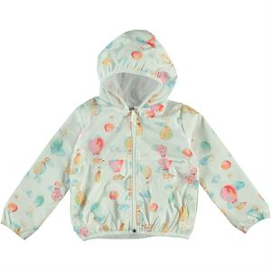 Civil Girls Girl's Hooded Raincoat Ecru 2-5 Years (1)