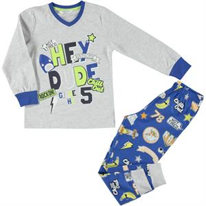 Roly Poly A Pajama Outfit Gray Boy 5-8 Years