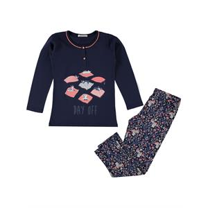 Roly Poly Kız Çocuk Pijama Takımı 10-16 Yaş Lacivert