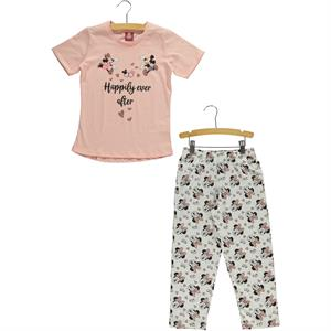 Roly Poly Mickey Mouse and his friends in a team 5-8 years girls pyjama Pink