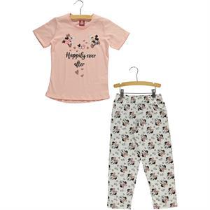 Mickey Mouse ve Arkadaşları Kız Çocuk Pijama Takımı 5-8 Yaş Pembe