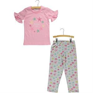Roly Poly Kız Çocuk Pijama Takımı 5-8 Yaş Pembe