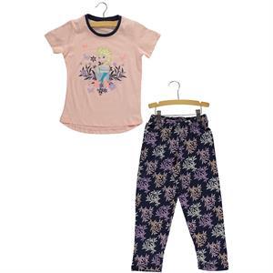 Frozen Kız Çocuk Pijama Takımı 5-8 Yaş Pembe