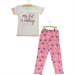 Roly Poly Kız Çocuk Pijama Takımı 10-16 Yaş Ekru