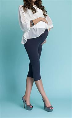 LuvmaBelly 55748 - Navy Blue Maternity Capri Tights