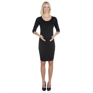LuvmaBelly Plain Black Pleated Maternity Maternity 5301
