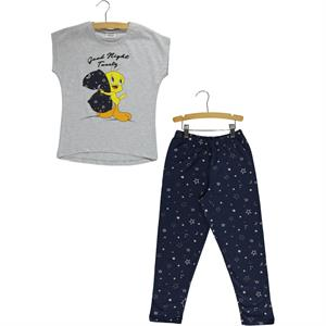TWEETY Gray Tweety Pajama Outfit Girl 6-12 Years
