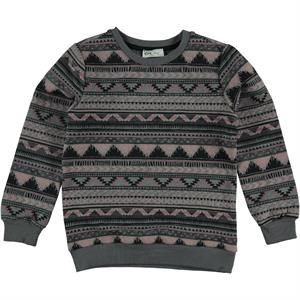 Cvl Kız Çocuk Sweatshirt 6-9 Yaş Füme
