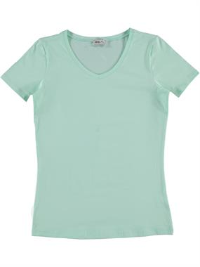 Cvl Pregnant combed cotton T-shirt XS-XL mint green