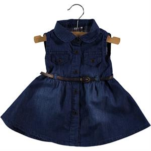 Civil Baby 6-18 Months Baby Girl Navy Blue Denim Dress