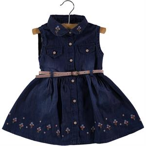 Civil Girls 2-5 Years Navy Blue Denim Girl Dress