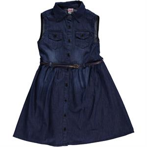 Civil Girls Girl Blue Denim Dress Age 6-9