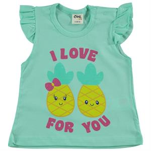 Civil Baby Girl Kids T-Shirt Mint Green 6-18 Months