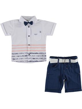 Civil Boys 2-5 Years Boy White Suit With A Bow Tie
