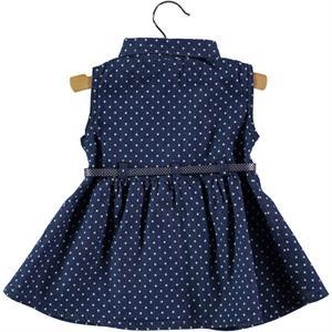 Civil Baby White Denim Dress For Baby Girl 6-18 Months (2)