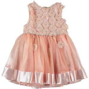 Missiva Salmon Girl Dress For 2-5 Age