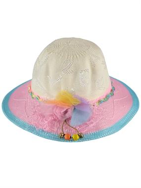 Kitti Pink Straw Hat Girl 6-12 Years