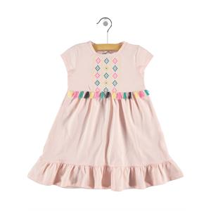 Cvl Powder Pink Girl Dress For 2-5 Age