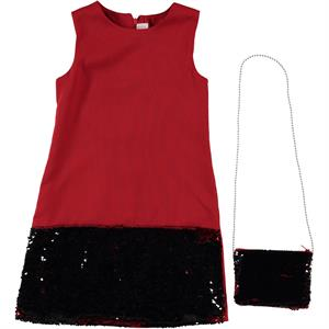Missiva Girl Child Age 10-13 Red Dress With The Bag