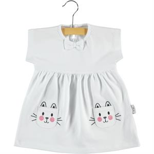 Kujju Baby Girl Dress 6-18 Months White