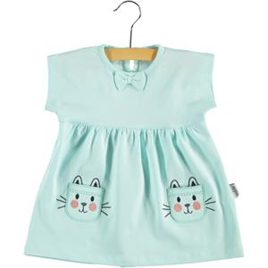 Kujju 6-18 Months Baby Girl Mint Green Dress (1)