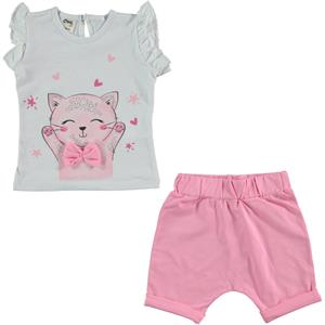 Civil Baby 6-18 Months Baby Girl White Team Shorts