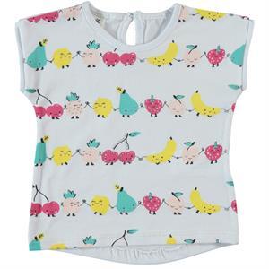 Kujju Baby Girl T-Shirt, White, 6-18 Months