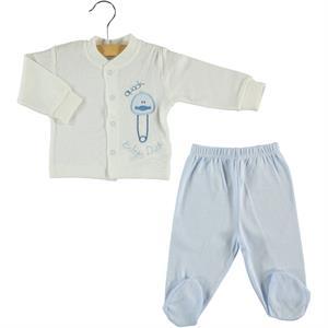 Civil Baby Blue 0-6 Months Baby Pajamas Team