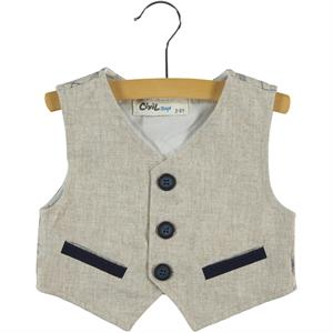 Civil Boys Boy's Beige Vest 2-5 Years