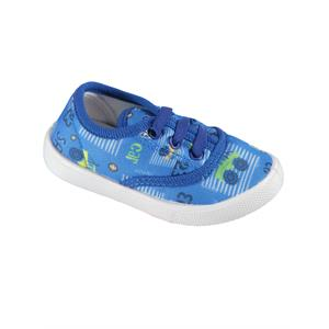 Civil Blue Linen Baby Boy Shoes Saks 21-25 Number