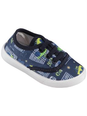 Civil Baby Boy Shoes Navy Blue Linen 21-25 Number