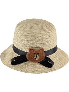 Kitti Beige Straw Hat Girl Age 2-6