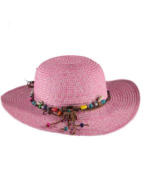 Kitti Pink Straw Hat Girl Ages 2-6