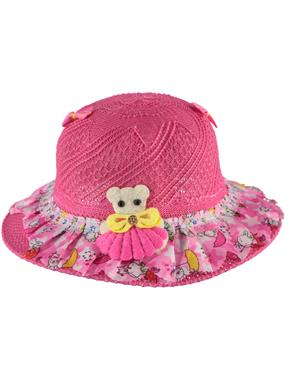 Kitti Fuchsia Straw Hat Girl 6-12 Years