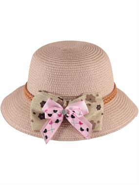 Kitti Pinkish Orange Straw Hat Girl 6-12 Years