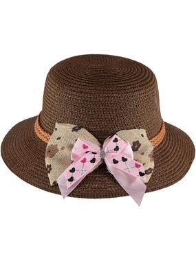 Kitti Brown Straw Hat Girl Ages 6-12
