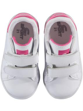 Sport White Baby Girl Sneakers 21-25 Number