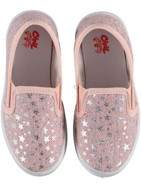 Civil Girl Boy Pink Linen Shoe 26-30 Number
