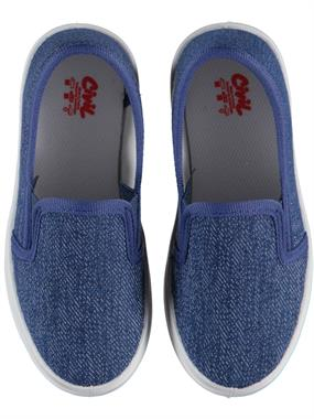 Civil Boy Blue Linen Shoes 26-30 Number