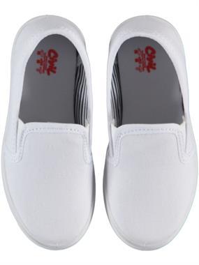 Civil Erkek Çocuk Keten Ayakkabı 26-30 Numara Beyaz