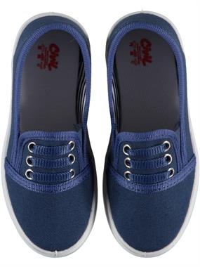 Civil Shoes Linen Navy Blue Girl Boy 26-30 Number