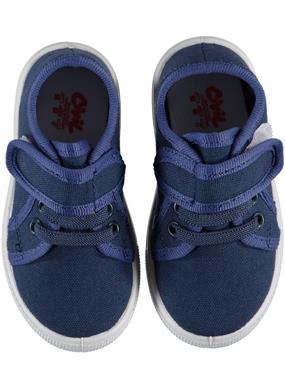 Civil Blue Linen Baby Boy Shoes 21-25 Number