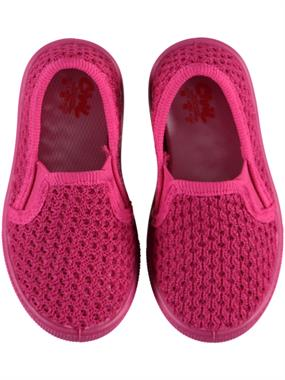 Civil Baby Girls Shoes Fuchsia Linen 21-25 Number