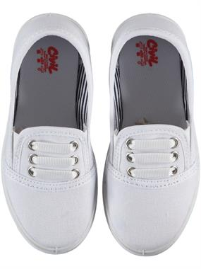 Civil White Linen Shoes Girl Boy 26-30 Number