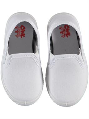 Civil White Linen Baby Boy Shoes 21-25 Number