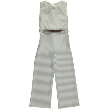 Missiva Girls Overalls Boy Girl Age 6-9 Civil Ecru