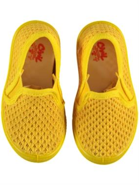 Civil Yellow Linen Baby Boy Shoes 21-25 Number