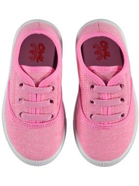 Civil Kız Bebek Keten Ayakkabı 21-25 Numara Pembe