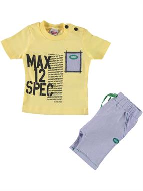 Kumru 3-12 Months Baby Boy Shorts Team Yellow